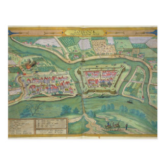 Map of Szolnok, from 'Civitates Orbis Terrarum' by Postcard