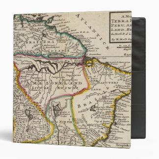 Map of Terra Firma, Peru, Amazone Land, Brasil Binder