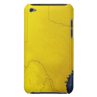 Map of Texas 3 iPod Touch Case-Mate Case