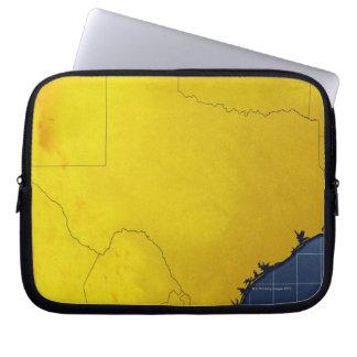 Map of Texas 3 Laptop Sleeve