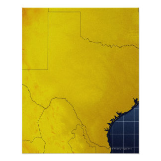 Map of Texas 3 Poster