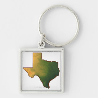 Map of Texas 4 Keychain