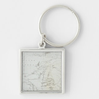 Map of Texas and part of New Mexico Keychain