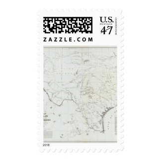 Map of Texas and part of New Mexico Postage