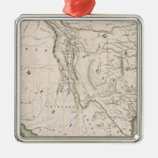 Map Of Texas And The Countries Adjacent Metal Ornament