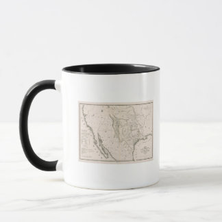 Map Of Texas And The Countries Adjacent Mug
