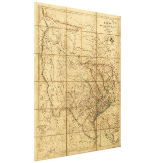 Map of Texas by John Arrowsmith (1841) Canvas Print