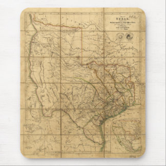 Map of Texas by John Arrowsmith (1841) Mouse Pad