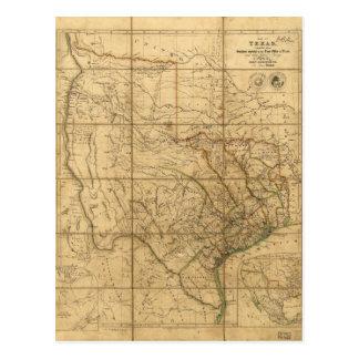 Map of Texas by John Arrowsmith (1841) Postcard