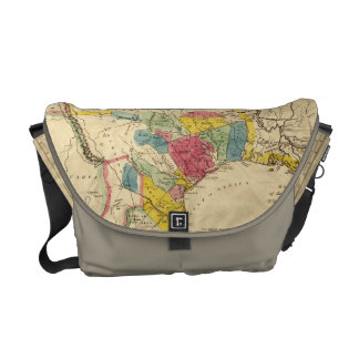 Map of Texas from 1833 Messenger Bag
