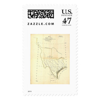 Map of Texas & Mexican States by Tanner 1839 Postage