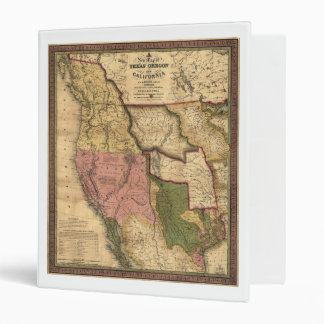 Map of Texas Oregon and California (1846) Binder