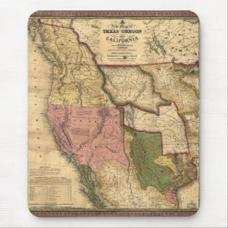 Map of Texas Oregon and California (1846) Mouse Pad