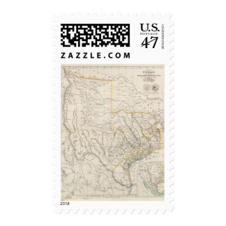 Map of Texas Postage Stamp