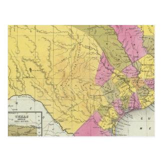 Map Of Texas Postcard