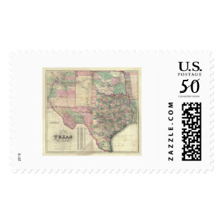 Map of Texas Territory by Colton 1872 Postage