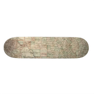 Map of Texas with County Borders Skateboard