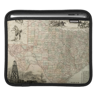 Map of Texas with County Borders Sleeve For iPads