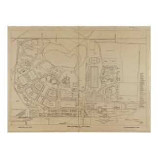 Map of the 1904 World s Fair in St Louis Missour Print