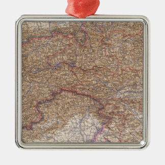 Map of The Alps in Austria Christmas Tree Ornaments