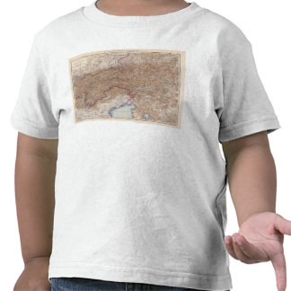 Map of The Alps in Austria T Shirt