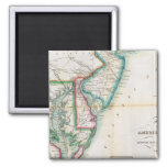 Map of the American Coast 2 Inch Square Magnet