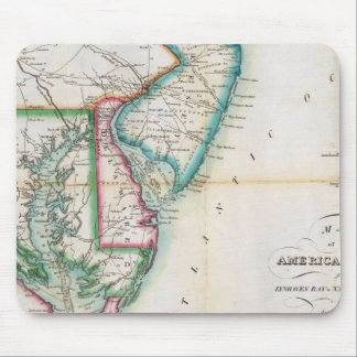 Map of the American Coast Mouse Pad