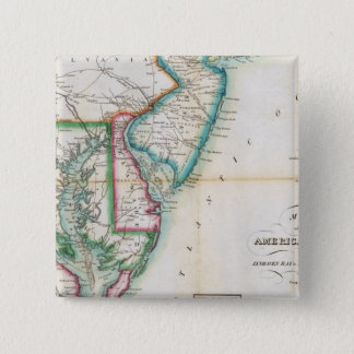 Map of the American Coast Pinback Button
