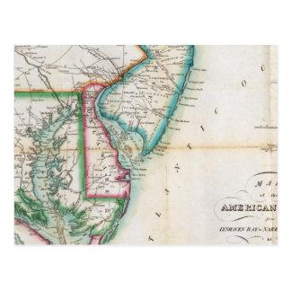 Map of the American Coast Postcard