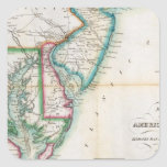 Map of the American Coast Square Sticker
