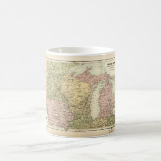 Map of the American MidWest (1873) Coffee Mug
