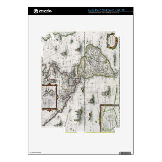 Map of the Americas, 1631 (coloured engraving) iPad 3 Skin