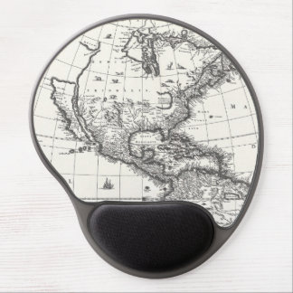 Map of The Americas 1669 Gel Mousepad