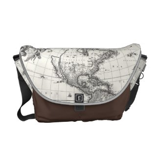 Map of The Americas 1669 Personalized Messenger Bag