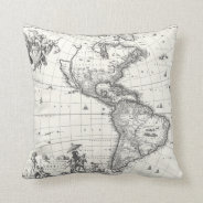 Map of The Americas 1669 Pillow at Zazzle