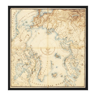 Map of the Arctic and Adjacent Regions (1855) Canvas Print