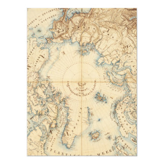 Map of the Arctic and Adjacent Regions (1855) Card