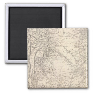 Map of the Argentine Confederation 2 Inch Square Magnet
