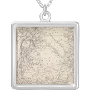 Map of the Argentine Confederation Square Pendant Necklace