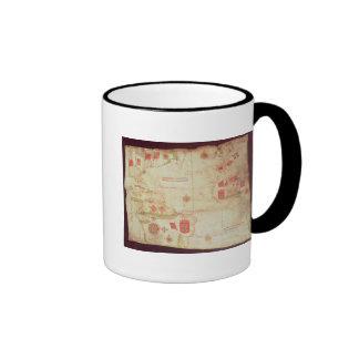 Map of the Atlantic Ocean, c.1550 Ringer Mug