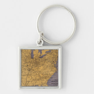 Map of the Atlantic States Keychains