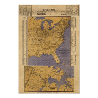Map of the Atlantic States Poster