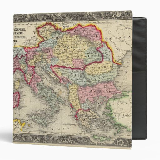 Map Of The Austrian Empire Binder
