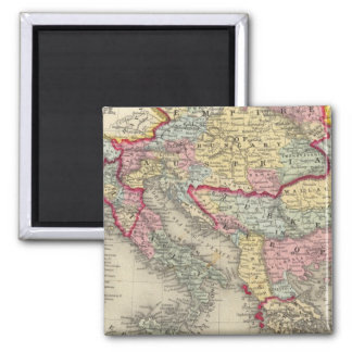 Map Of The Austrian Empire Refrigerator Magnet