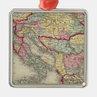 Map Of The Austrian Empire Christmas Tree Ornament