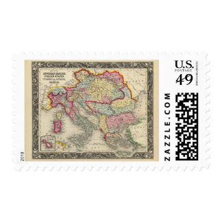 Map Of The Austrian Empire Stamp