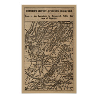 Map of the Battle of Chancellorsville, Virginia. Poster