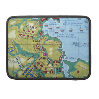 Map of the Battle of Corunna Sleeves For MacBook Pro
