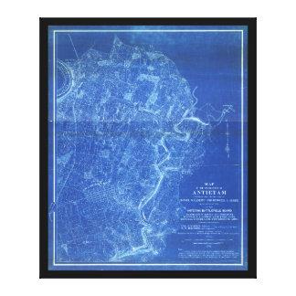 Map of the Battlefield of Antietam (1898) Canvas Print