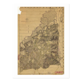 Map of the Battlefield of Shiloh April 6 & 7, 1862 Postcard